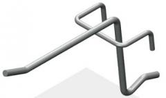 Крючок штыревой 75 мм с зацепом