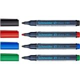 Набор маркеров универсальных для досок и флипчартов Schneider S290 cap off, 2 мм, 4 шт.