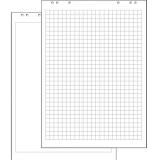 Блок бумаги для флипчартов в клетку 20 листов с перфорацией