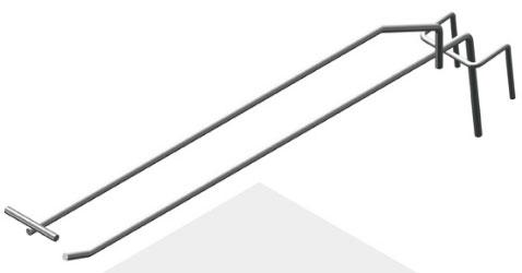 Крючок штыревой 275 мм с ценникодержателем