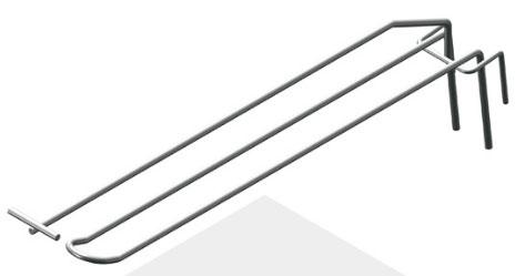 Крючок язычковый 275 мм с ценникодержателем