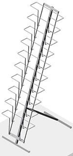 Буклетница напольная с дисплеем 10 ячеек А4 горизонтальная