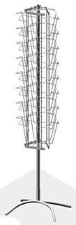 Буклетница вращающаяся трехгранная 24 ячейки А4