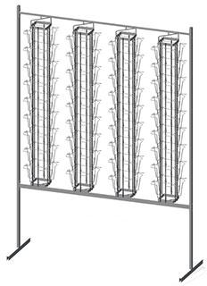 Стенд для буклетов 4 дисплея 36 ячеек А5