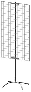 Торговая стойка с сеткой 1200x600 мм