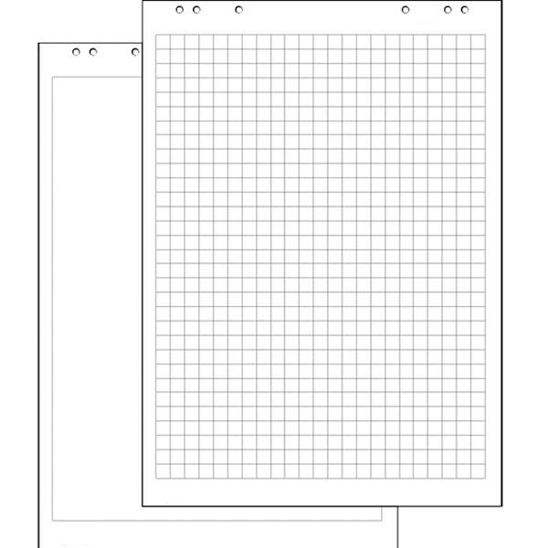 Блок бумаги для флипчартов 20 листов с перфорацией