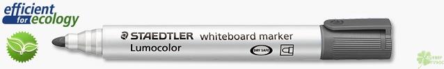 Маркер для досок Lumocolor Compact 1-2мм, черный (Staedtler)
