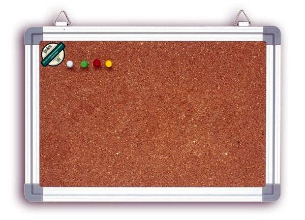 Доска пробковая в алюминиевой рамке 45x60 см