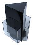 Вращающаяся настольная буклетница на 3 кармана А5 черного цвета