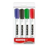 Маркер для магнитно-маркерных досок KORES 3мм 4шт в упаковке
