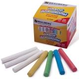 Мел цветной BRAUBERG, НАБОР 100шт. (20цветов+80бел), кругл, антипыль, карт.упак. с разделителями