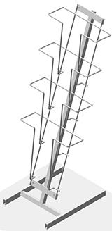 Буклетница настольная с дисплеем 4 ячейки А4