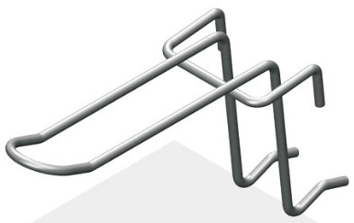 Крючок язычковый 75 мм с зацепом