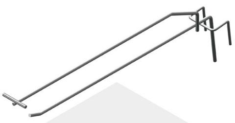 Крючок штыревой 275 мм с ценникодержателем усиленный