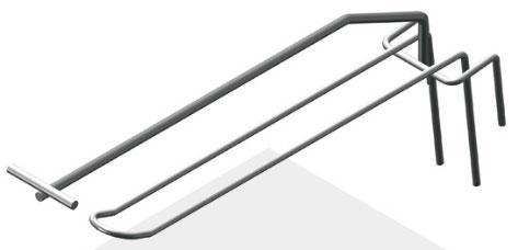 Крючок язычковый 175 мм с ценникодержателем