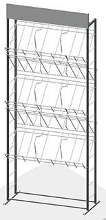 Стенд 3А4 5 полок двухсторонний
