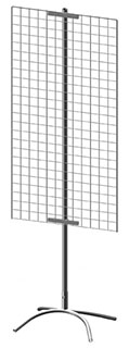 Торговая стойка с сеткой 1200x350 мм