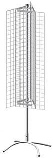 Торговая стойка трехгранная 3 сетки 1200х350 мм