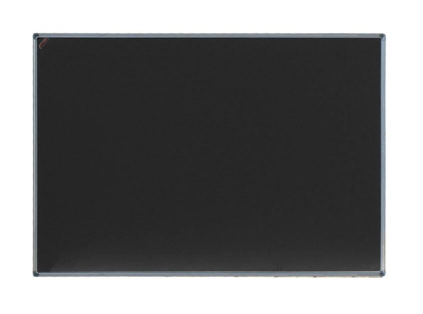 Одноэлементная черная меловая доска (магнитная) в алюминиевом профиле 100 х 120